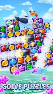 Pirates & Pearls -Match 3 Pirate Puzzle Game MOD (Purchase) 2