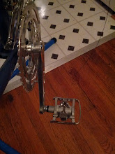 Photo: Swapped the standard touring pedals for Shimano SPD Clipless/Clip pedals