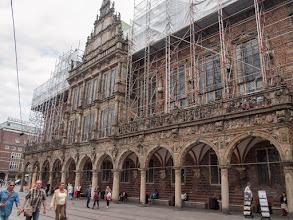 Photo: Bremer Rathaus helaas in de steigers