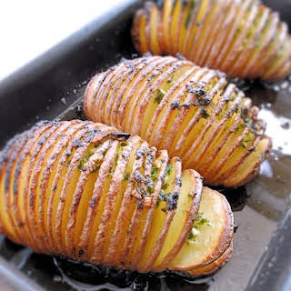 Hasselback Potatoes.