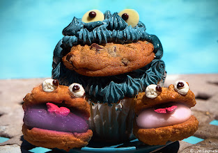 Photo: Didn't know Cookie Monster had babies did you?  What's better than a cupcake? A cupcake with a cookie in it of course : D  This shot goes out to +Brian Spencer  who is always asking me if I have cookies to go with my poems  and all the kind and gracious folks who always take the time to read and comment on my poems, especially when I'm all out of cookies :)