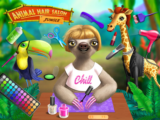 Jungle Animal Hair Salon - Styling Game for Kids android2mod screenshots 12