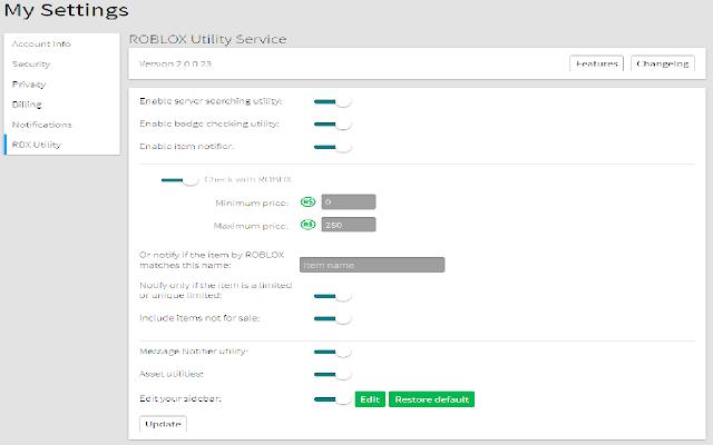 Roblox Utility Service