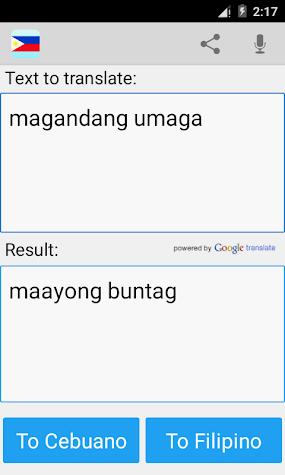 Filipino to Cebuano Pro Screenshot