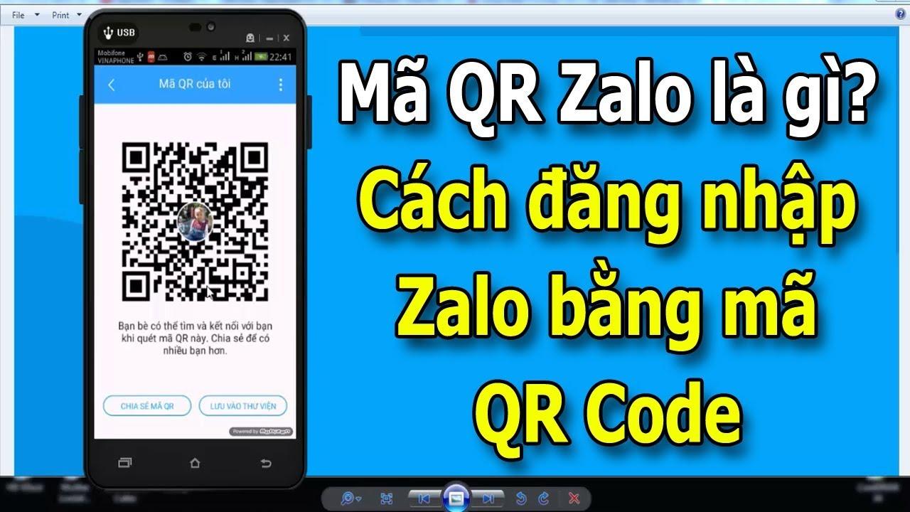 Đăng nhập zalo thông qua việc quét mã QR