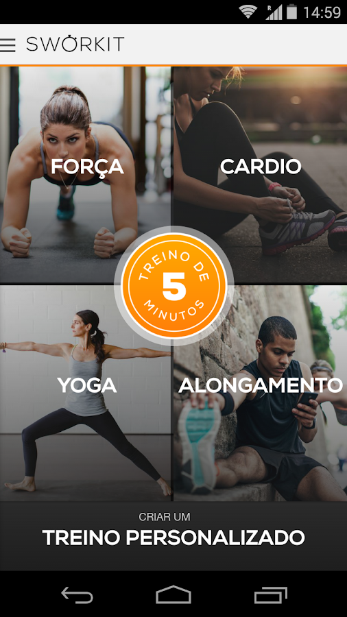 Sworkit Personal Trainer: captura de tela