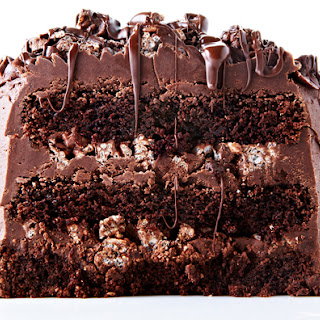 Decadent Chocolate Rice Krispie Crunch Cake Recipe Decadent Chocolate Rice Krispie Crunch Cake