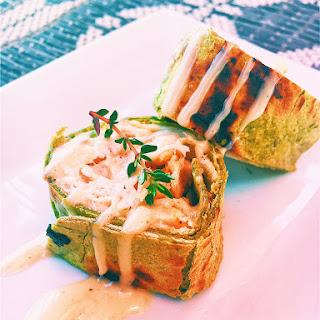 Mini Turkey Avocado Crunch Wrap With Thyme Dressing.