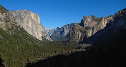 Photo: The view includes El Capitan, Clouds Rest, Half Dome, a bit of Sentinel Dome, Cathedral Rocks and Bridalveil Fall.