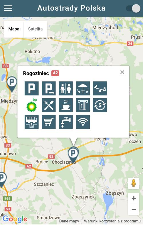 Screenshots of Autostrady Polska for iPhone