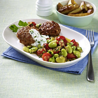 Meatballs with Fava Beans and Tomatoes