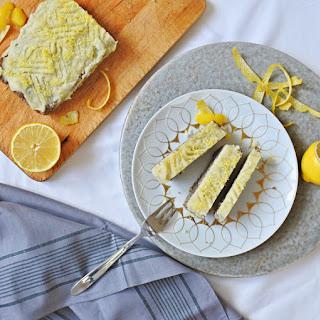 Poppy Seed Cake with Lemon Icing.