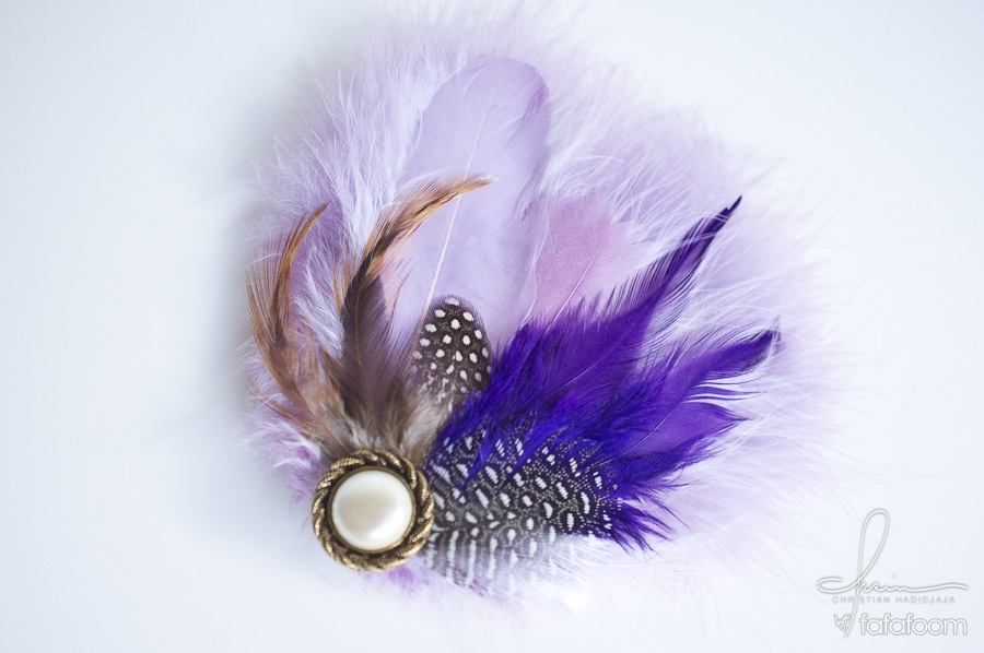 Purple Feathers Hair Pin - DIY Fashion Accessories | fafafoom.com