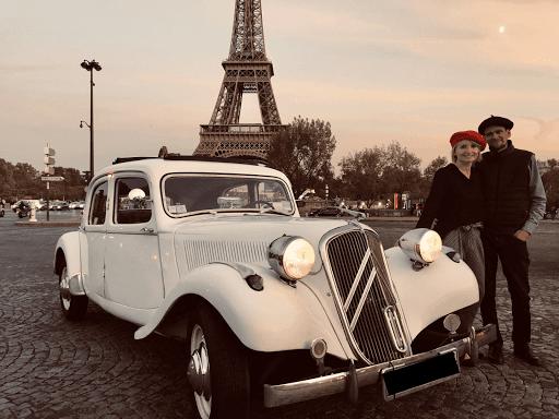 Visite de paris en voiture de collection Midnight in Paris