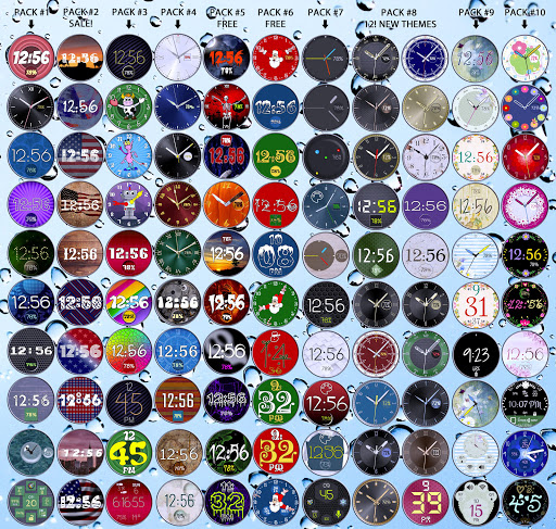 Bubble Cloud Wear Launcher Watchface (Wear OS) 9.39 screenshots 16