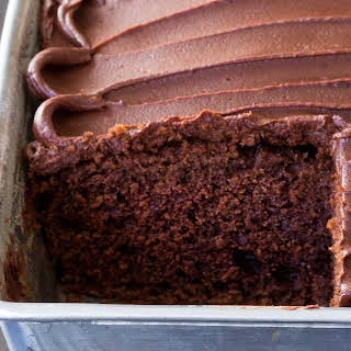Chocolate Snack Cake with Chocolate Frosting.
