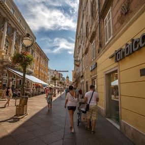 RijekaRijeka - Korzo by Stanislav Horacek - City,  Street & Park  Street Scenes