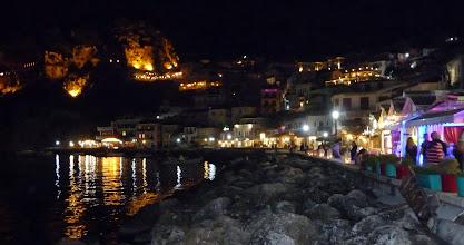 Photo: Parga by night.