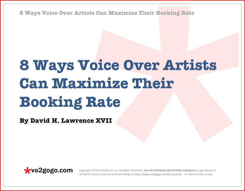 The 2018 vo booking blueprint lesson 3 engagement click here to download your free ebook eight ways voice over artists can maximize their booking rate malvernweather Choice Image