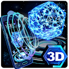 Neon Pentagon 3D Theme icon
