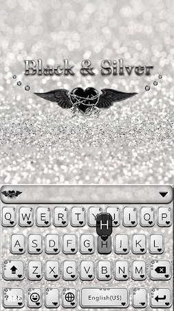 Black & Silver Kika Keyboard 42.0 screenshot 734806