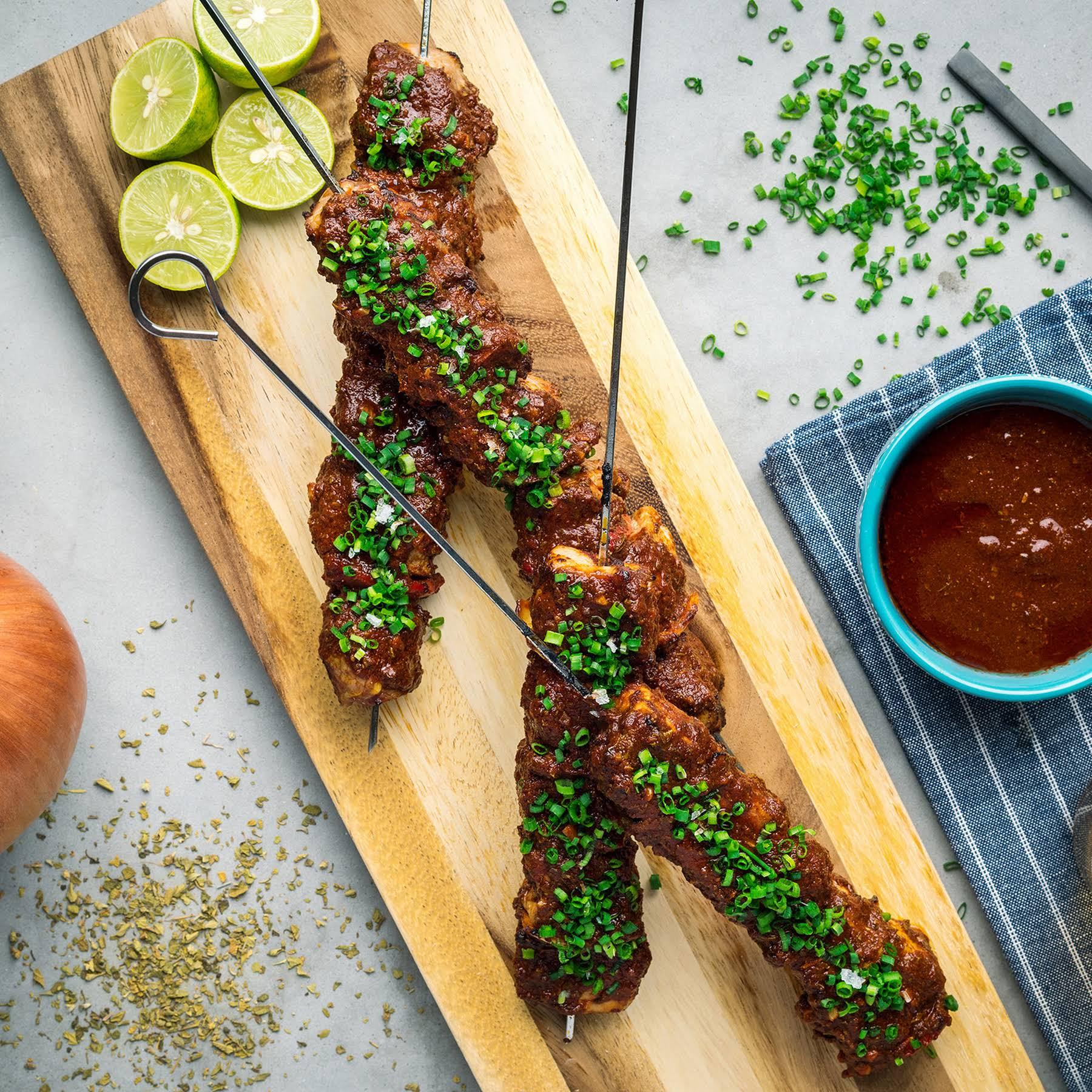 Grilled Pork Anticuchos