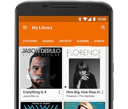 Google Play Música screenshot