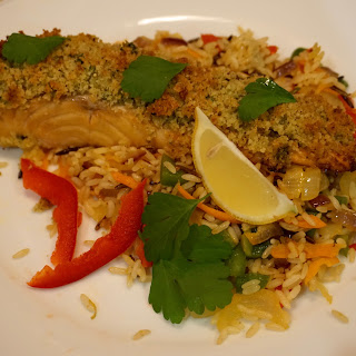 Baked Salmon With Crumbs Crust Recipe