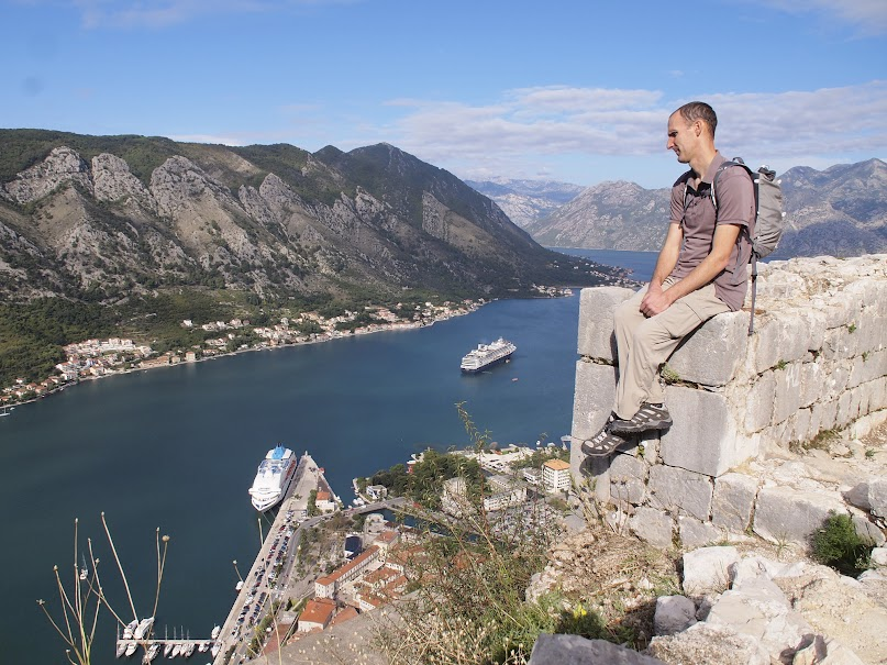 View of Bay of Kotor from San Giovanni fort