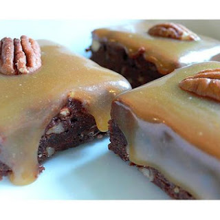 Turtle Caramel Brownies
