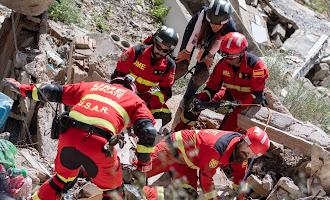 Simulacro de terremoto en Adra