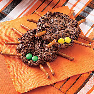 Chocolate-Cookie Spiders.