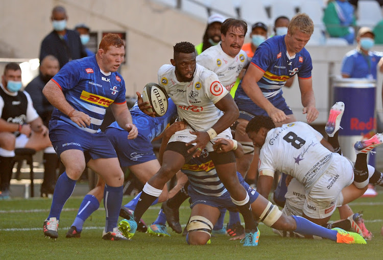 Springbok captain Siya Kolisi ended on the victorious side as his new team the Cell C Sharks beat his former employers the DHL Stormers at Cape Town Stadium in Cape Town on May 1 2021.