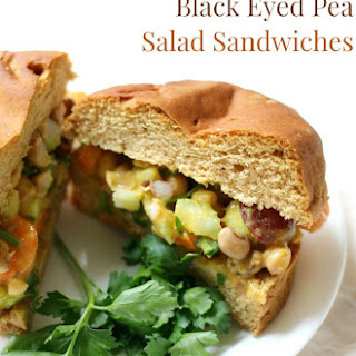 Curried Black Eyed Pea Salad Sandwiches (Gluten-Free, Vegan).