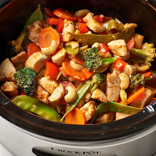 Slow Cooker Cashew Chicken.
