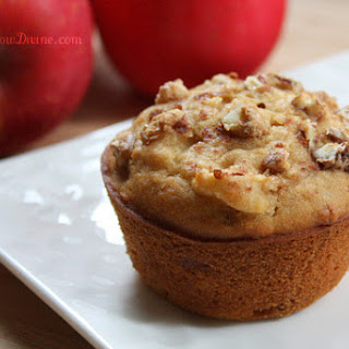 Gluten-Free Apple Muffins with Candied Walnuts and Pecans