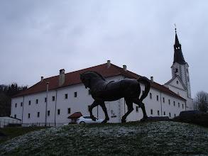 Photo: park skulptura Antuna Augustinčića i franjevački samostan u Klanjcu