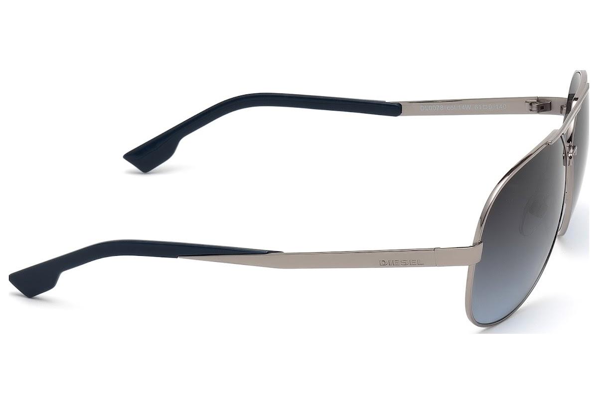 f8f76e880b2 Polarized Sunglasses Diesel DL0078 C61 14W (shiny light ruthenium    gradient blue)