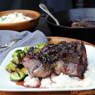 30-Minute Aussie Lamb Shoulder Chops with Cherry Port Wine Sauce.