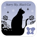Gothic-Starry Sky, Black Cat- icon