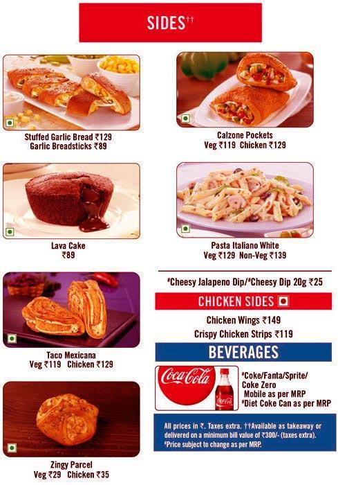 Domino's Pizza menu 6