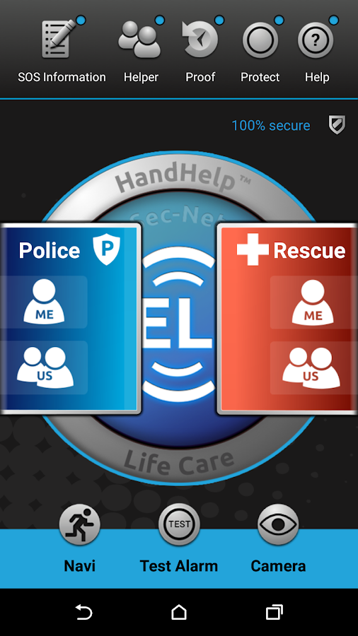 Worldwide emergency rescue app HandHelp™ Life Care- screenshot