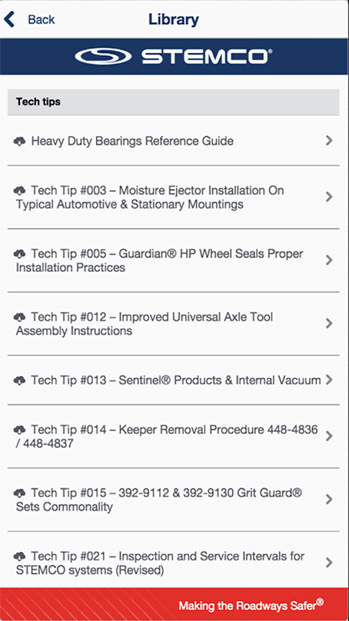 STEMCO Mobile- screenshot