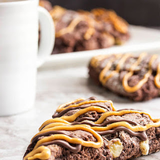 Triple Chocolate Banana Scones