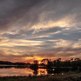 Stillness in flooding by Diane Ebert - Landscapes Sunsets & Sunrises ( #no2sunsetsalike, #goldenhour, #candidsaremypassion, #candidshutterbug,  )