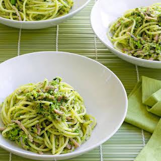 Summer Spaghetti with Peas and Ham.