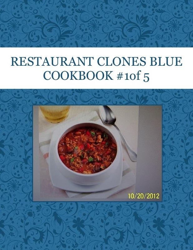 RESTAURANT CLONES BLUE COOKBOOK #1of 5