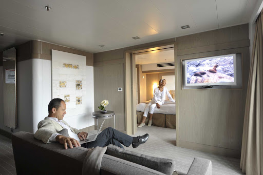 Ponant-Le-Boreal-stateroom.jpg - Relax in style in a suite on Le Boreal, a luxury expedition yacht from Ponant.