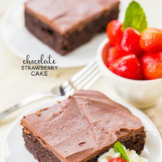 Strawberry Pie Cake.