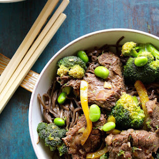 Easy Beef and Broccoli Soba Noodle Bowl